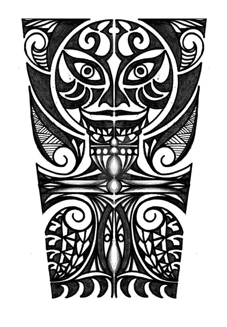 Polynesian with cross forearm tattoo design by thehoundofulster