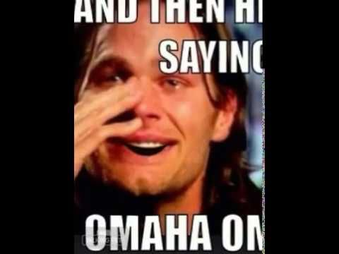 Tom Brady crying about Peyton Manning - this will not stop cracking me up!  Omaha, Omaha!