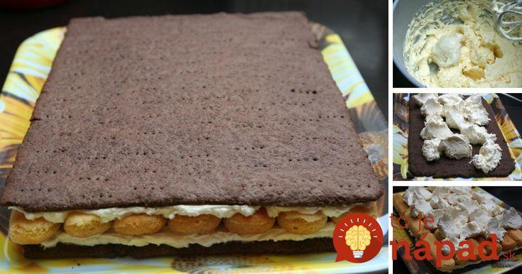 Famózny dezert z krehkého maslového cesto a fantastického krému. Ako čerešničku na torte sú piškóty máčané v káve, ktoré dodávajú tomuto zákusku úžasnú chuť.
