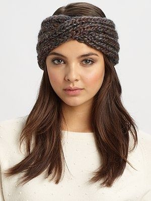 Knit headbands are a chic way to stay warm in the winter.