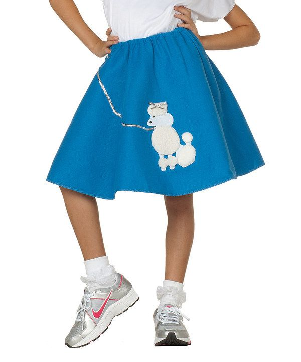 RG Costumes Blue Poodle Skirt u0026 White Top - Girls   Poodles Other and White tops