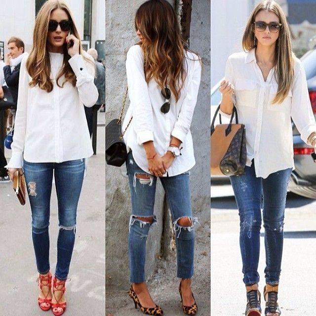 Witte blouse dames combineren