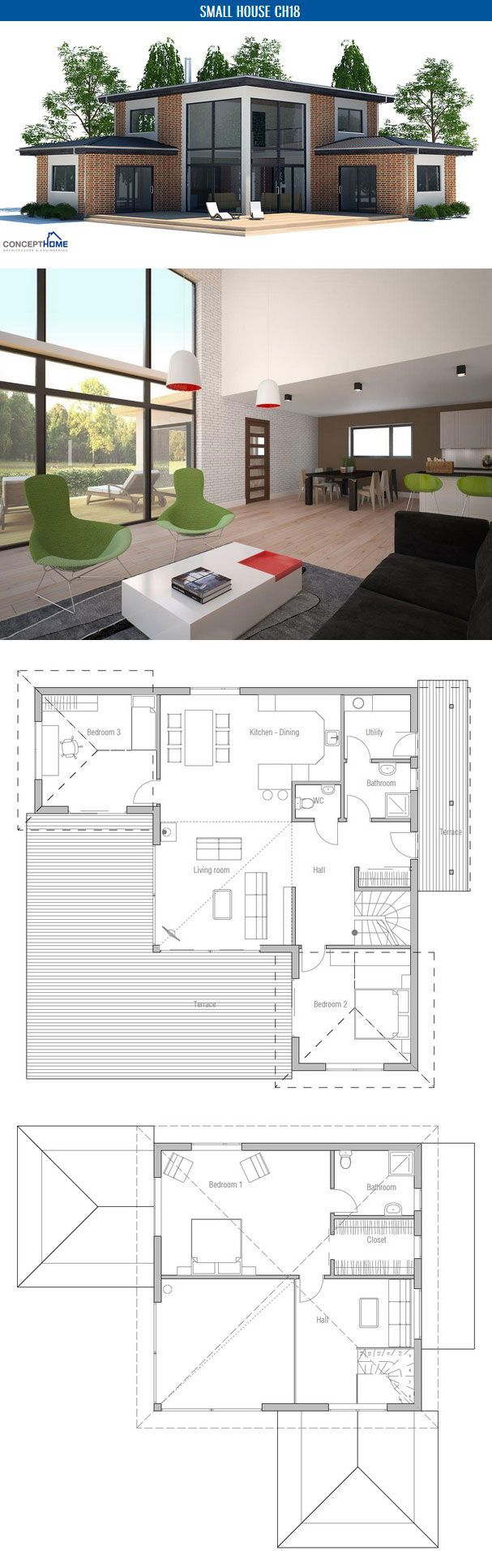 413 best Living images on Pinterest | Architecture, Floor plans and ...