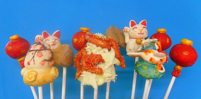 Chinese New Year Cake Pop Collection by Kiss And Bake Up, via Flickr