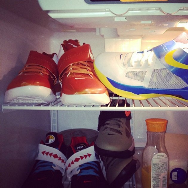 Jordan Crawford uses shoes to hide his Sunny D.