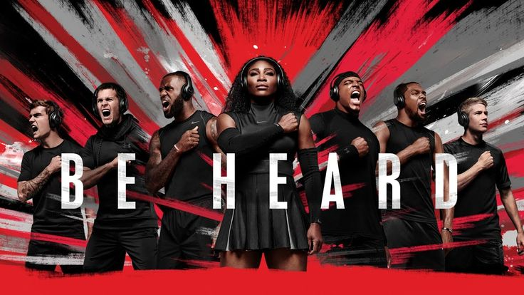 Beats By Dre Presents: BE HEARD ..Cam Newton, Lebron James, Serena Williams, Owen Farrell, Tom Brady, Kevin DeBruyne, Kevin Durant, Anthony Joshua, Simone Biles, Nigel Sylvester, Conor McGregor, Antoine Griezmann, Thierry Henry, Leticia Bufoni, César Azpilicueta, Eden Hazard, Diego Costa, Cesc Fabregas, Bastian Schweinsteiger, Alexander Ovechkin, Michael Phelps, Chelsea FC, and FC Bayern.