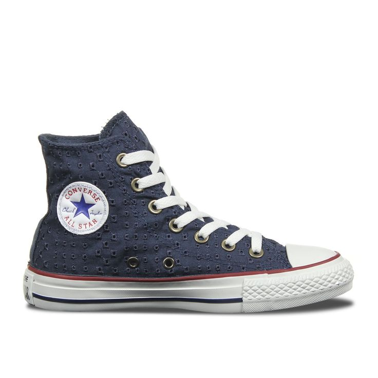 converse all star embroidery hi 542539c navy