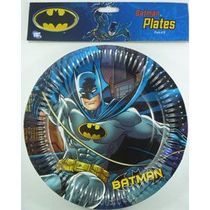 Let's Party With Balloons - Batman Plates, $8.00 (http://www.letspartywithballoons.com.au/batman-plates/)
