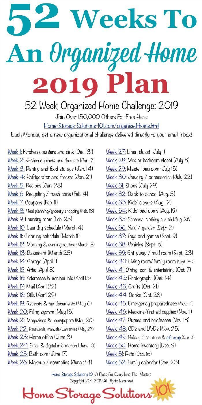 52 Wochen für ein organisiertes Zuhause: Nehmen S…