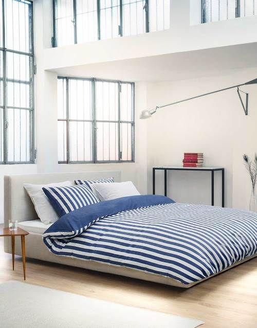 POŚCIEL : Marc o'Polo Pościel Classic Stripe Blue - rozmiar podwójny