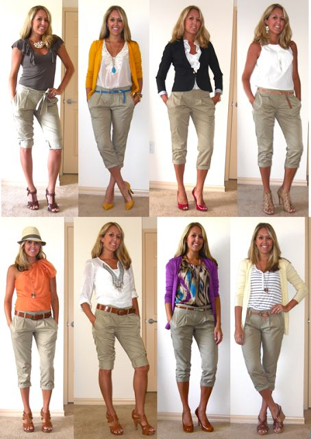 New Long Khaki Pants For Women Outfit Ideas 2017