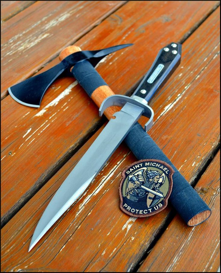 Modified Cold Steel Spike Hawk & Ontarios Bagwell Bowie