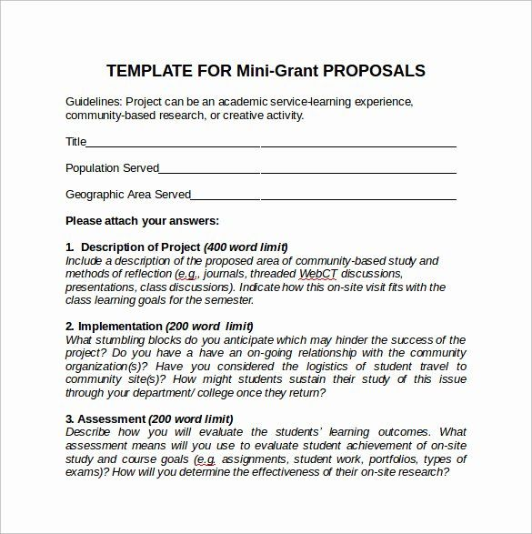 24 Sample Grant Proposal Template In 2020 Grant Proposal