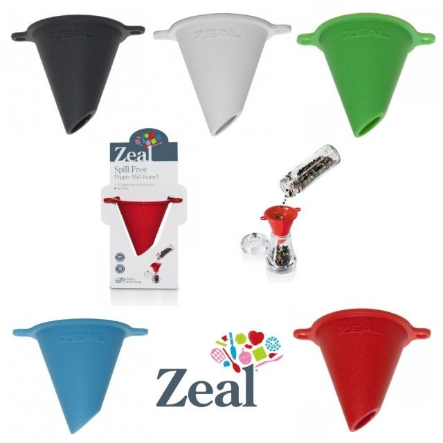 Spill-Free Salt or Pepper Mill Funnel by Zeal