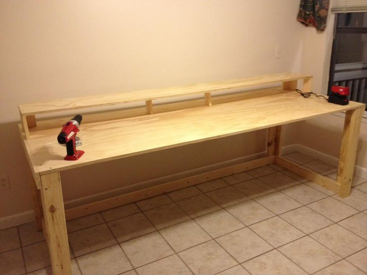 Home made recording studio desk img heavy sevenstring for Bedroom l shaped desks