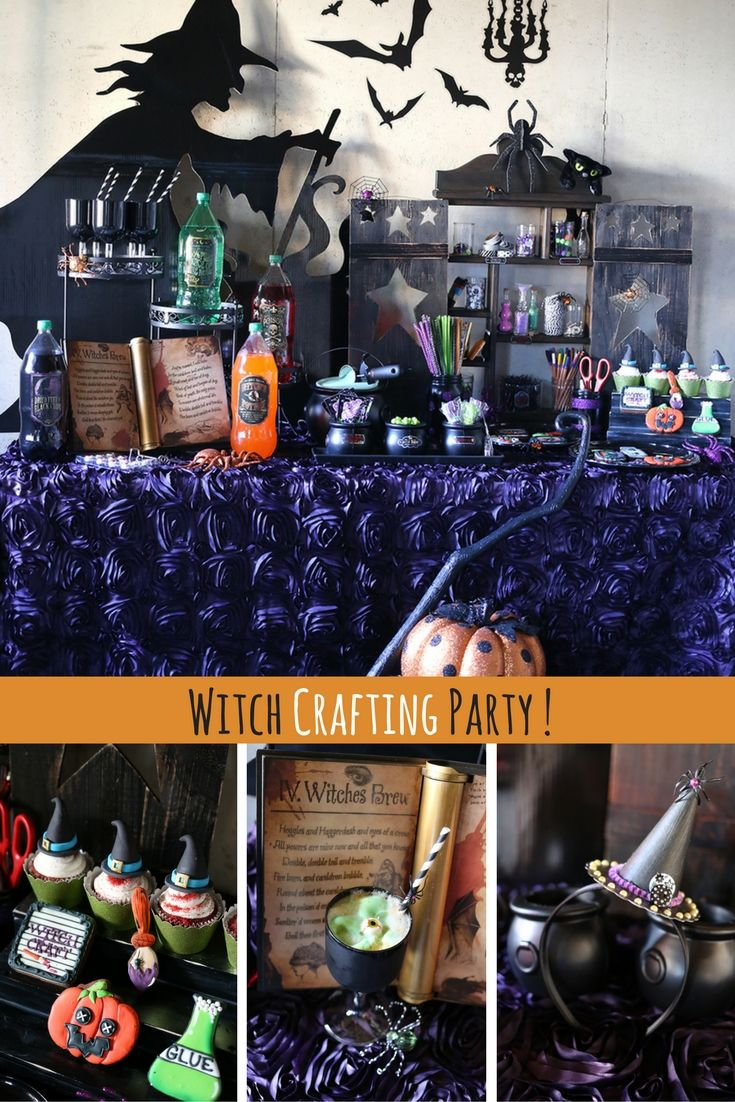 Plan a fun Halloween Witch Crafting party for your friends, have themed drinks, and fun foods to create a Halloween themed crafting party! Loaded up with diys and recipes this Witch Crafting party has so many ideas for you to create your own Halloween Party. See more.