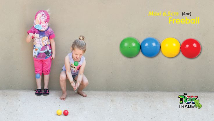 4 Colourful, bouncing balls. Theses balls are squeezable and made of high quality rubber. Each ball is approximately 6.5cm in diameter. The balls never loses its bounce and feels great in any hand. The balls are develop to learn children hand-eye coordination, motor skills and discipline of bouncing and catching. For ages 3+.