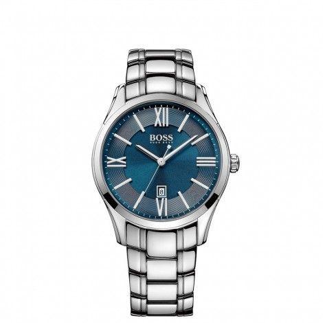 Koop dit Hugo Boss Black Ambassador horloge HB1513034 horloge online in onze webwinkel.                     Dit is een heren horloge met een quartz uurwerk.                             De kleur van de kast is zilver en de kleur van het uurwerk is blauw.                             De kast is gemaakt van rvs en de band van het horloge van rvs.                             Het uurwerk is analoog en er wordt gebruik gemaakt van mineraal.                                       Wij zi...