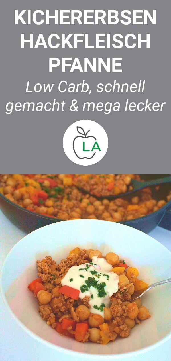 Kichererbsen Hackfleisch Pfanne (Low Carb)