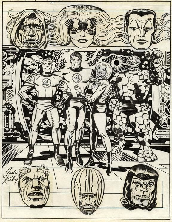 Cap'n's Comics: Back Cover of the Fantastic Four Treasury by Jack kirby