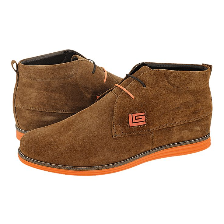 Lentilly - Guy Laroche Men's low boots made of suede with leather lining and synthetic outsole. Available in Black, Blue, Maroon, Tan, Grey, Tobacco and Green color.