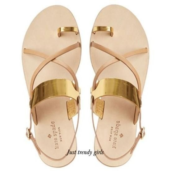kate spade flat sandals with golden touch Kate spade summer sandals http://www.justtrendygirls.com/kate-spade-summer-sandals/