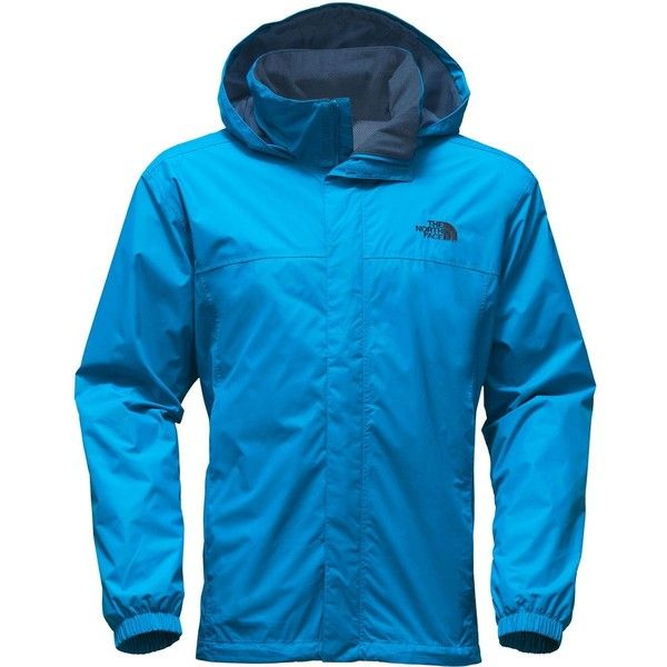 The North Face Resolve 2 Hooded Jacket ($90) ❤ liked on Polyvore featuring men's fashion, men's clothing, men's outerwear, men's jackets, mens jackets, mens waterproof jacket, mens hooded jackets, the north face mens jackets and mens nylon jacket