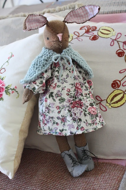 Bunny doll for Easter--pattern from Alicia Paulson at the blog Posie Gets Cozy
