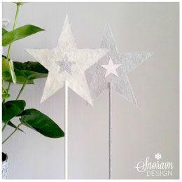 Julestjerne på fot. - Christmas star table decoration.