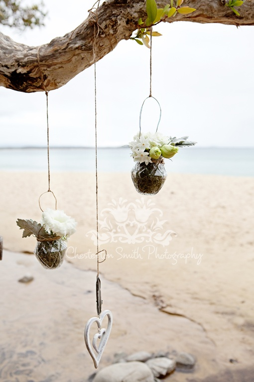 hanging vases  The Noosa Wedding Ring Glenda your Co Ordination Planner  www.noosaweddingring.com