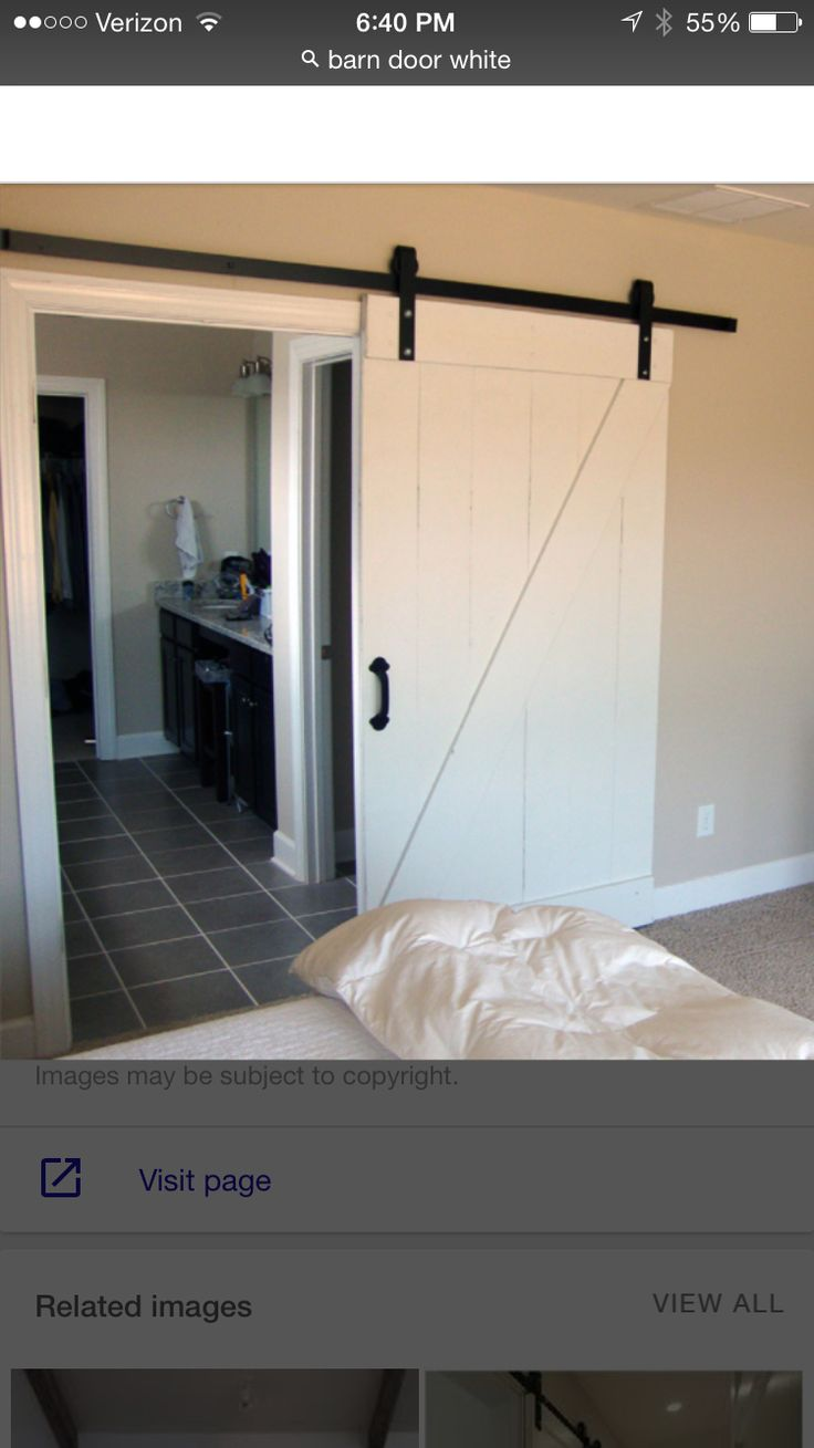 Barn door for master bed entrance to walk in closet(future master bath?) |  For the Home | Pinterest | Walk in closet, Master bath and Barn doors
