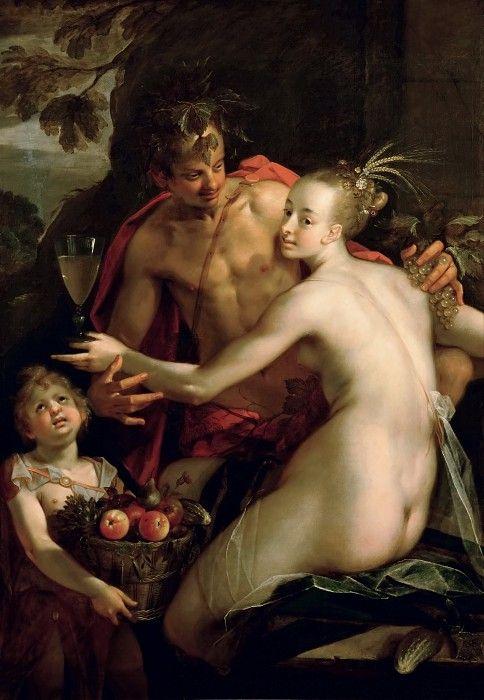 Ганс фон Ахен -- Вакх, Церера и Купидон.