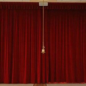burgundy cotton velvet curtain panel 12ft long luxurious high quality heavy movie theater room drape sound reducing energy efficient thermal - Velvet Curtain