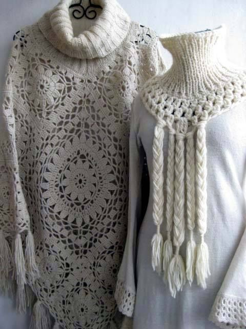 Poncho Crochet   Estimadas amigas, encontramos este poncho a crochet que es verdaderamente hermoso y queremos compartirlo con ustedes, nues...