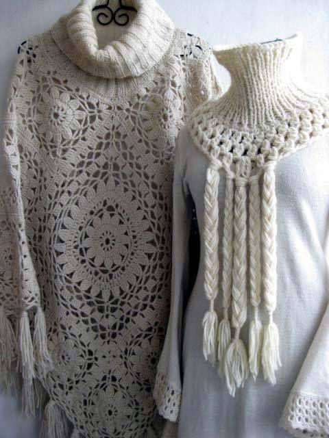 Poncho Crochet | Patrones crochet