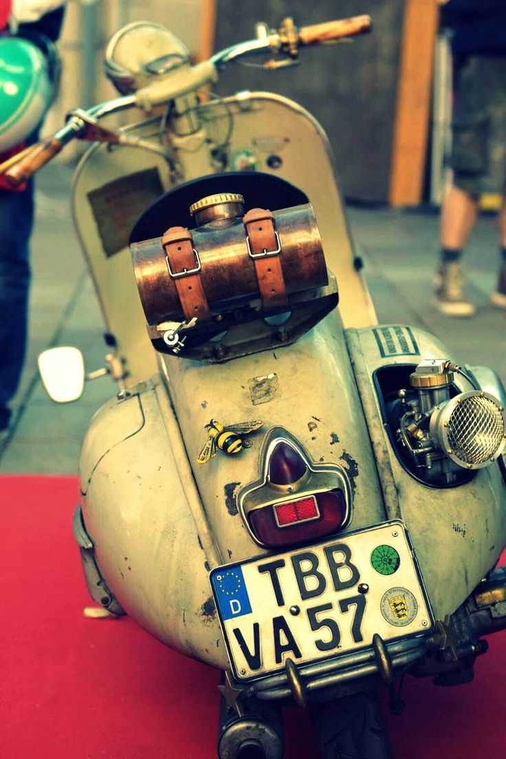 This is a proper Vespa: A Vespa Club Cascina (@vespacascina) | Twitter. Why is it proper? It's vintage and it's being used (a lot). Own a Vespa and use it enough and it develops this great patina, like an old friend. The latest model is not important; any model that works is what is important. Easy to ride, easy to love. Vespa. A cultural icon on wheels.