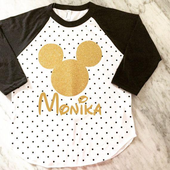 gold glitter mickey mouse polka dot shirt, disney vacation family shirts, disney birthday shirt, mickey mouse birthday shirt