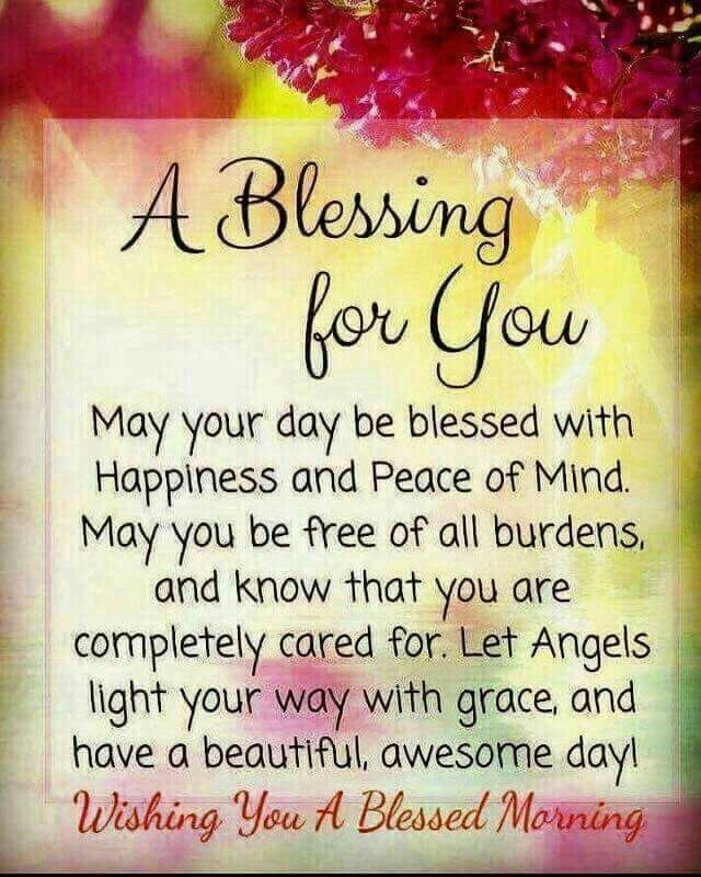 Blessings Quotes: MORNING BLESSINGS!