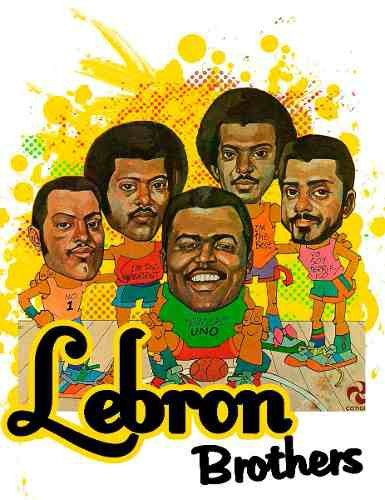 The Lebron Brothers illustrated 1970s for Cotique Records