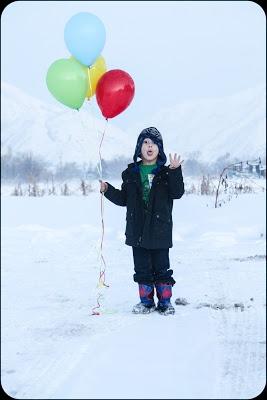 fun four-year-old boy birthday photo shoot.