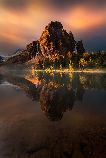 Canadian Rockies Light    Another Canadian Rockies image from some of my backcountry travels. For this image the sunrise was not looking good but you never know what can happen and sometimes you get lucky !