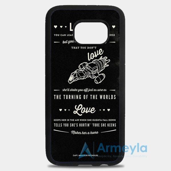 Firefly Serenity Quotes Samsung Galaxy S8 Plus Case | armeyla.com
