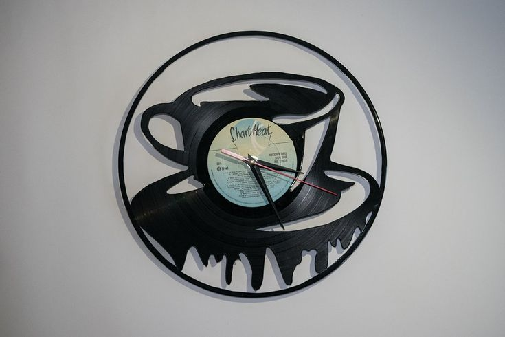 Coffee Vinyl Wall Clock