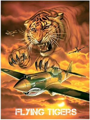 The 'Flying Tigers' (1st American Volunteer Group (AVG) of the Chinese Air Force) from 1941-1942.