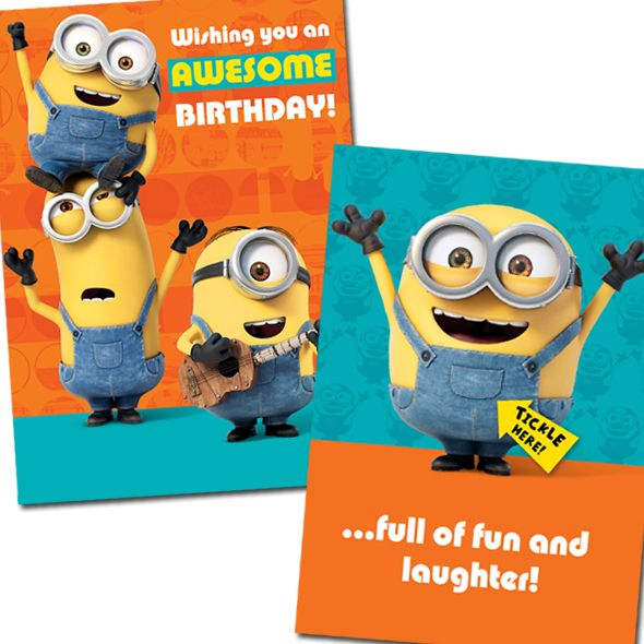 "Bring a little fun to a loved one's birthday with this hilarious #DespicableMe #Minion ""Tickle Me"" Sound Card.  Just Tickle the Minion's Tummy and hear him giggle! Plus when you order from http://bit.ly/MinionTickleCard you also receive Free UK Delivery!"
