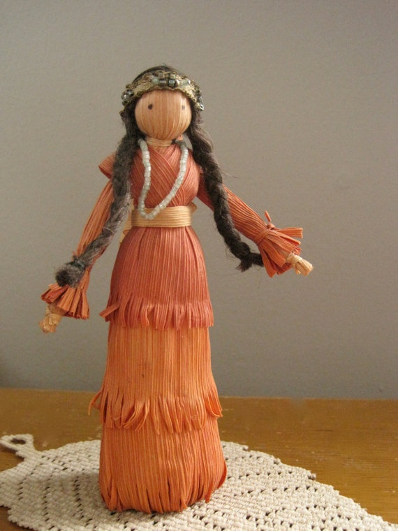 Vintage Native American Corn Husk Doll  Mother with by PeakVintage, $32.00