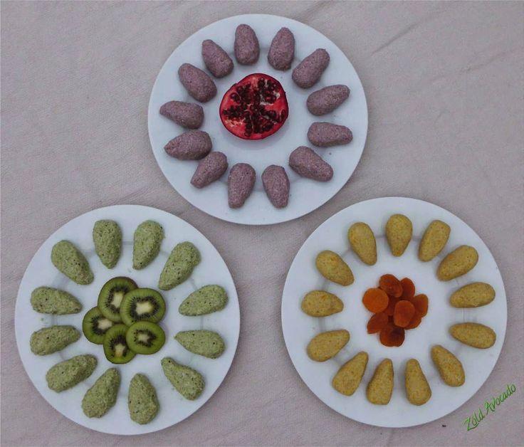 gyümölcsös kókuszgolyók (laktózmentes, gluténmentes, cukormentes és tojásmentes, nyers, vegán) / Recept / sárgabarack, banán, kivi, gránátalma