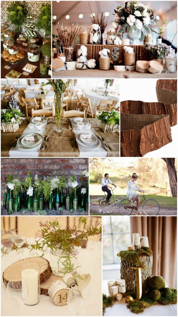 107 best theme woodland weddings images on pinterest wedding earthy chic weddings earth day inspired wedding centerpieces junglespirit Image collections