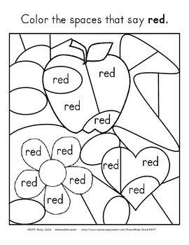 FREEBIE! Color Words Fun Activity
