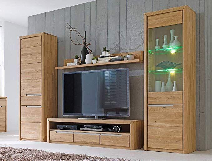Wohnwand Pisa 30 Eiche Bianco Massiv 4 Teilig Medienwand Tv Wand Wohnzimmer Tv Mobel Wohnzimmer Ideen Landhaus Wand Tv Wand Wohnzimmer Wohnwand Diy Wohnmobel